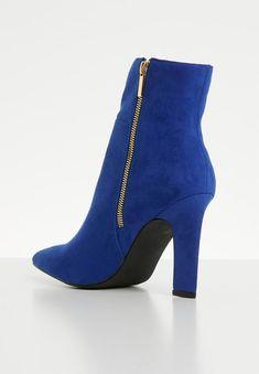 Joan boot - blue Madison® Boots | Superbalist.com Block Heels, Two By Two, Footwear, Socks, Booty, Zip, How To Wear, Blue, Women
