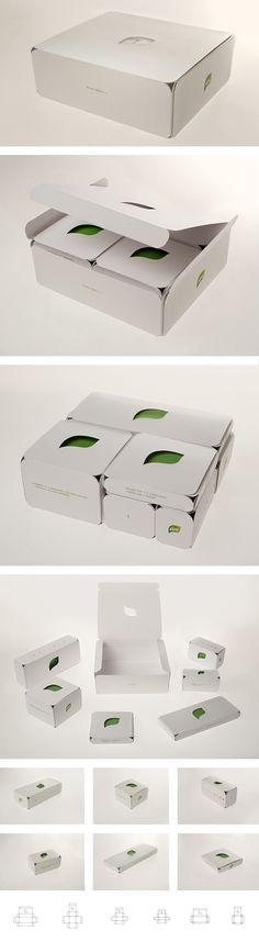 Green Meal / Leaf / Packaging / Vegetarian fast food concept / SHONSKI art and design studio