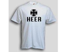 T-Shirt Heer  T-Shirt Heer deutsche Bundeswehr. Das Heeres T-Shirt ist in den Größen S-3XL erhältlich. Auf dem Bundeswehr T-Shirt ist das Wort Heer sowie das Tatzenkreuz der Bundeswehr abgebildet. / mehr Infos auf: www.Guntia-Militaria-Shop.de