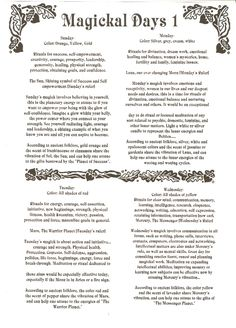 BoS1 - free Book of Shadows pages to save or print - Section One
