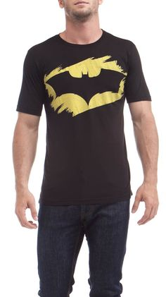 Batman T-shirt, this one is for sale. Wonder if I could freezer paper stencil this?