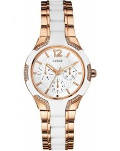 GUESS Women's White Silicone Rose Gold Tone Stainless Watch for sale online Trendy Watches, Fashion Mode, Latest Fashion, Trends, Stainless Steel Bracelet, Quartz Watch, Fashion Watches, Gold Watch, Ebay