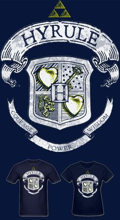 Much Needed Merch | Hyrule Crest Mens T Shirt S-XXL | Online Store Powered by Storenvy