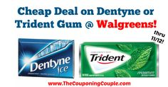WOOHOO! Nice and quick deal this week! Cheap Deal on Dentyne or Trident Gum @ Walgreens!  Click the link below to get all of the details ► http://www.thecouponingcouple.com/cheap-deal-on-dentyne-or-trident-gum-walgreens/ #Coupons #Couponing #CouponCommunity  Visit us at http://www.thecouponingcouple.com for more great posts!