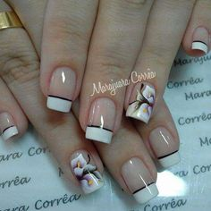 Calas Mani Pedi, Pedicure, Cute Nails, Pretty Nails, Hair And Nails, My Nails, Flower Nails, Gorgeous Nails, French Nails