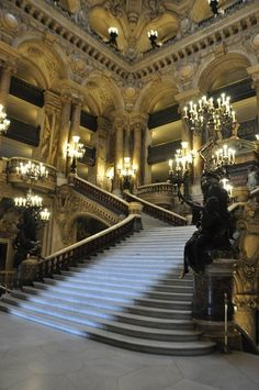 """Opéra Garnier, Paris (Attended the Paris ballet's """"Hunchback of Notre Dame"""" in this beautiful opera house.)"""