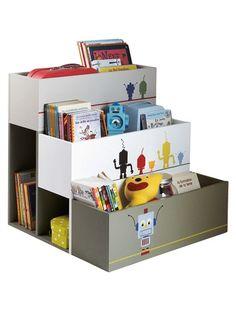 bibliothèque enfant de Vertbaudet (on pourrait pas la faire avec des jardinières???)