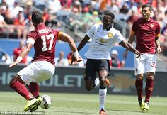 Mehdi Benatia closes down United and England striker Danny Welbeck
