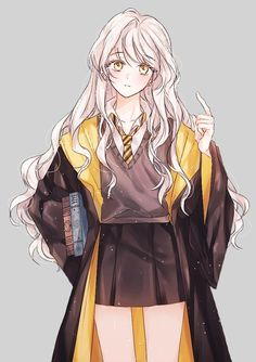 Image in Anime girls collection by ◈Kyouko◈ on We Heart It Cool Anime Girl, Pretty Anime Girl, Beautiful Anime Girl, Kawaii Anime Girl, Anime Chibi, Art Anime, Anime Art Girl, Anime Girls, Harry Potter Anime