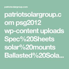 patriotsolargroup.com psg2012 wp-content uploads Spec%20Sheets solar%20mounts Ballasted%20Solar%20Ground%20Mount DELTA-1-High-5-Panel-SPEC-Ballasted-GM-SLR-MTBAL175-145.pdf