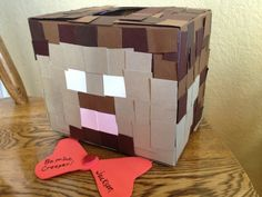 Happy Valentines day creepers!  Great mailbox for class party! Minecraft