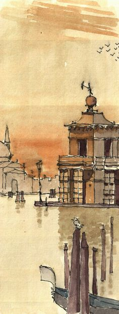 Dogana di Mare, Venice, I, 1999 (I'd like my watercolors to reach this level of subtly.)