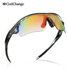 b3cea5569d CoolChange Polarized Cycling Glasses Bike Outdoor Sports Bicycle Sunglasses  For Men Women Goggles Eyewear 5 Lens Myopia Frame-in Cycling Eyewear from  Sports ...