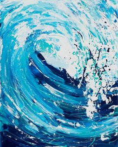 Buy Wave Series - Blue, Acrylic painting by Annette Spinks on Artfinder. Discover thousands of other original paintings, prints, sculptures and photography from independent artists. Acrylic Wave Painting, Blue Painting, Waves Photography, Paint Photography, Lake Art, Surf Art, Paintings For Sale, Original Paintings, Beach Art
