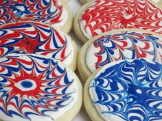 Fireworks sugar cookies - I'm going to make these for our 4th of July party