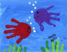 55 Handabdruck Bilder, die Klein und Groß froh machen tinker with children creative tinkering ideas with handprints for toddlers craft home Kids Crafts, Daycare Crafts, Baby Crafts, Toddler Crafts, Creative Crafts, Arts And Crafts, Summer Crafts For Toddlers, Crafts For Babies, Summer Preschool Themes