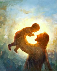 Picture of Heaven's Gift God and Jesus Christ Arte Lds, Image Jesus, Pictures Of Jesus Christ, Jesus Pics, Lds Art, Gift From Heaven, Biblical Art, Prophetic Art, Jesus Is Lord