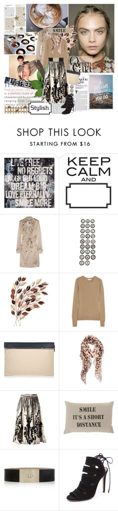 """Queen Cara"" by iloveyoudd ❤ liked on Polyvore featuring Wall Pops!, Burberry, Aidan Gray, WALL, Equipment, Victoria Beckham, Causse, Alexander McQueen, DAY Birger et Mikkelsen and Givenchy"