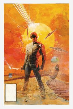 The cover of Marvel's collected comic adaption of Dune (1984), by Bill Sienkiewicz.