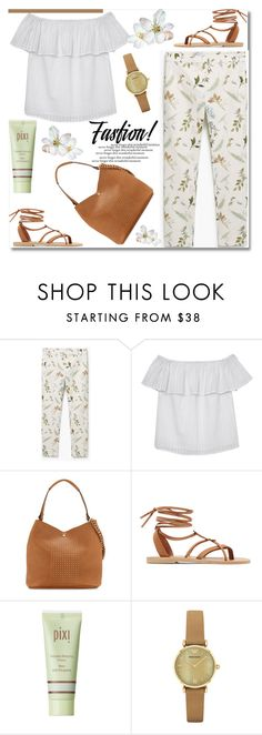 """""""Summer Fashion"""" by truthjc ❤ liked on Polyvore featuring MANGO, Olive + Oak, Neiman Marcus, Valia Gabriel, Pixi and Emporio Armani"""