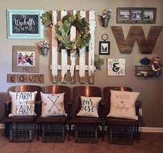Rustic room decor rustic decor ideas very attractive rustic wall decor ideas designing home decoration kitchen . Baskets On Wall, Decor, Home Diy, Rustic Decor, Farmhouse Gallery Wall, Farmhouse Wall Decor, Rustic House, Gallery Wall Decor, Rustic Walls