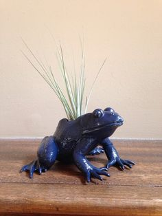 Glossy Navy Frog by LeBrunDesignsInc on Etsy