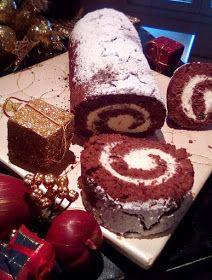 ΜΑΓΕΙΡΙΚΗ ΚΑΙ ΣΥΝΤΑΓΕΣ 2: Κορμός Χριστουγεννιάτικος !!!! Cake Receipe, Biscotti Cookies, Macaron Recipe, Sweet And Salty, Christmas Desserts, Sweet Recipes, Cupcake Cakes, Bakery, Dessert Recipes