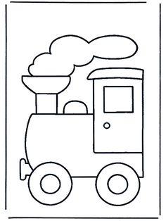 Kleurplaat : trein