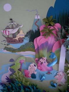 """Mermaid Lagoon by Britni Brault.  For the """"Peter Pan & Wendy"""" Show.  From July 24 of 2012 at Susanita's Little Gallery"""