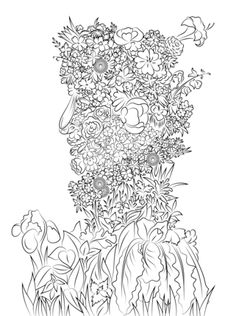 Spring by Giuseppe Arcimboldo coloring page