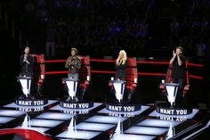 The Voice - Season 10  Blind Auditions -- Pictured: (l-r) Adam Levine, Pharrell Williams, Christina Aguilera, Blake Shelton -- (Photo by: Trae Patton/NBC)