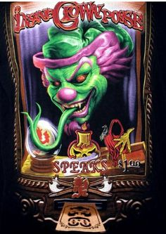 Freaky Clowns, Evil Clowns, Evil Clown Pictures, Icp Joker Cards, Icp Hatchet Man, Jeff Hardy Face Paint, Clown Pants, Insane Clown Posse, Send In The Clowns