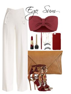 A fashion look from September 2015 featuring red tube top, wide leg summer trousers and brown tassel sandals. Browse and shop related looks. Cute Comfy Outfits, Classy Outfits, Chic Outfits, Trendy Outfits, Summer Outfits, Fashion Outfits, Fashion Trends, Cute Fashion, Look Fashion