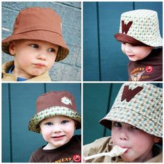 4-in-1 Bucket Hat Tutorial by Sew Much Ado. You could make these hats bright, bold and fun by using colorful fabrics and adding decorative buttons, feathers, bling, etc....