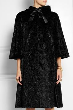 Alexander McQueen|Faux fur coat, fall '14 Beauty and the Beast Collection