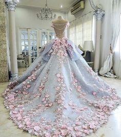 Fuera lo tradicional de Color Blanco, Hermoso Vestido de Princesa