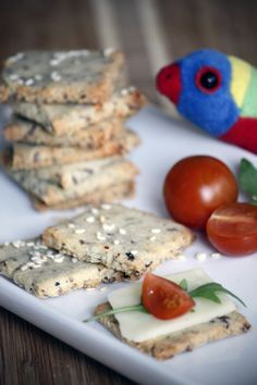 Almond Cracker Recipe | Little Foodies | Homemade cracker recipe using almond flour