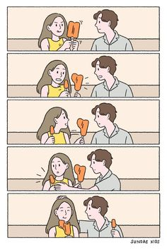 More from Sundae Kids! Love Cartoon Couple, Cute Couple Comics, Couples Comics, Cute Comics, Funny Comics, Cute Couples Goals, Cute Anime Couples, Sundae Kids, Relationship Comics