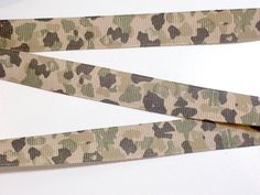 Brown and Green Camouflage Grosgrain Ribbon 5/8 by GriffithGardens