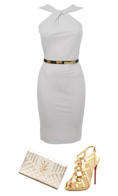 """Untitled #5996"" by ania18018970 on Polyvore featuring Gucci, Christian Louboutin and Yves Saint Laurent"