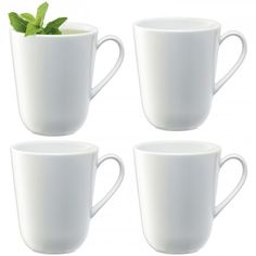 DINE Mug x 4  This vitrified porcelain mug is dishwasher-safe and has a curved profile. Versatile for serving tea, coffee, hot chocolate or herbal infusions.