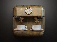 精美写实咖啡机Icon图标设计 - 视觉同盟(VisionUnion.com)
