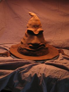 Cake Decorating - A step by step picture tutorial on how to make the Sorting Hat Cake.