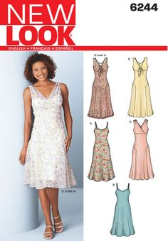 Misses Dress and Slip Dress New Look Sewing Pattern No. 6244
