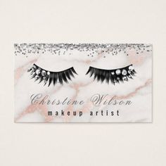 faux gemstone chic lashes makeup artist business card - glitter gifts personalize gift ideas unique