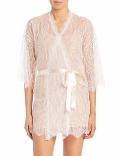 HANKY PANKY LACE ROBE LIGHT IVORY  120 - PICK UP OR SHIPS FREE WORLDWIDE!  BET 7696ccfc8