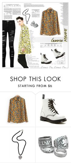 """MYNAME - Gunwoo"" by kairimikio ❤ liked on Polyvore featuring Dr. Martens and NOVICA"