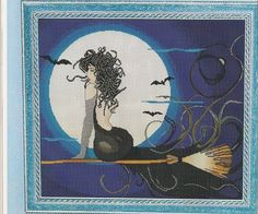 ru / monfran - The album Cross Stitch Embroidery, Embroidery Patterns, Cross Stitch Patterns, Fantasy Cross Stitch, Halloween Cross Stitches, Fantasy Women, Le Point, Fall Halloween, Needlework