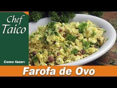 Farofa de Ovo | Vídeo + Receita | Blog do Chef Taico