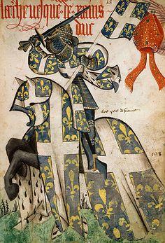 L'archevêque de Reims, Grand Armorial équestre de la Toison d'Or, Flandres, 1430-1461.